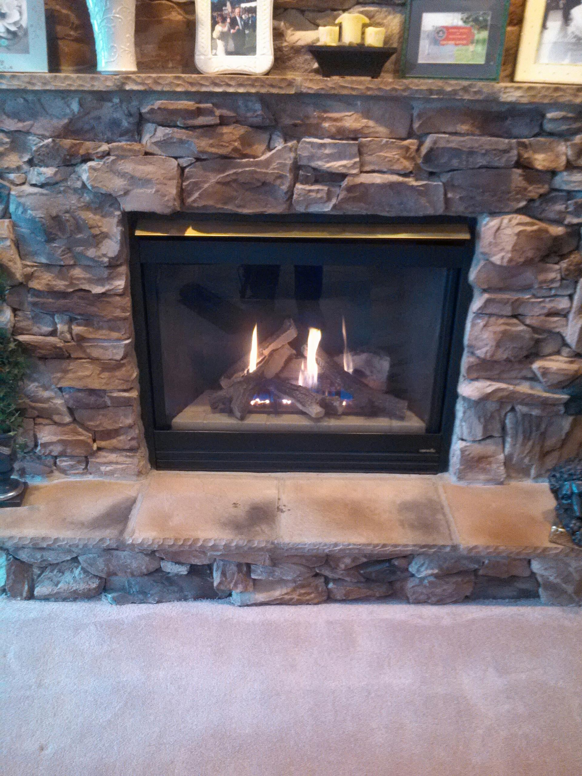 Gambrills, MD - Heat N Glo gas fire place insert & gas log set installation repair service call in Gambrills Maryland 21504