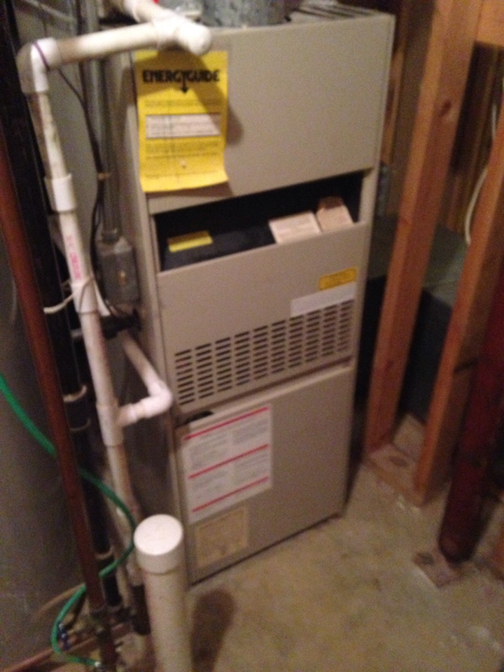 Crofton, MD - Trane gas furnace heating & AC system, Aprilaire whole house humidifier & Honeywell electronic air cleaner replacement installation & plumbing repair service call in Crofton Maryland 21114