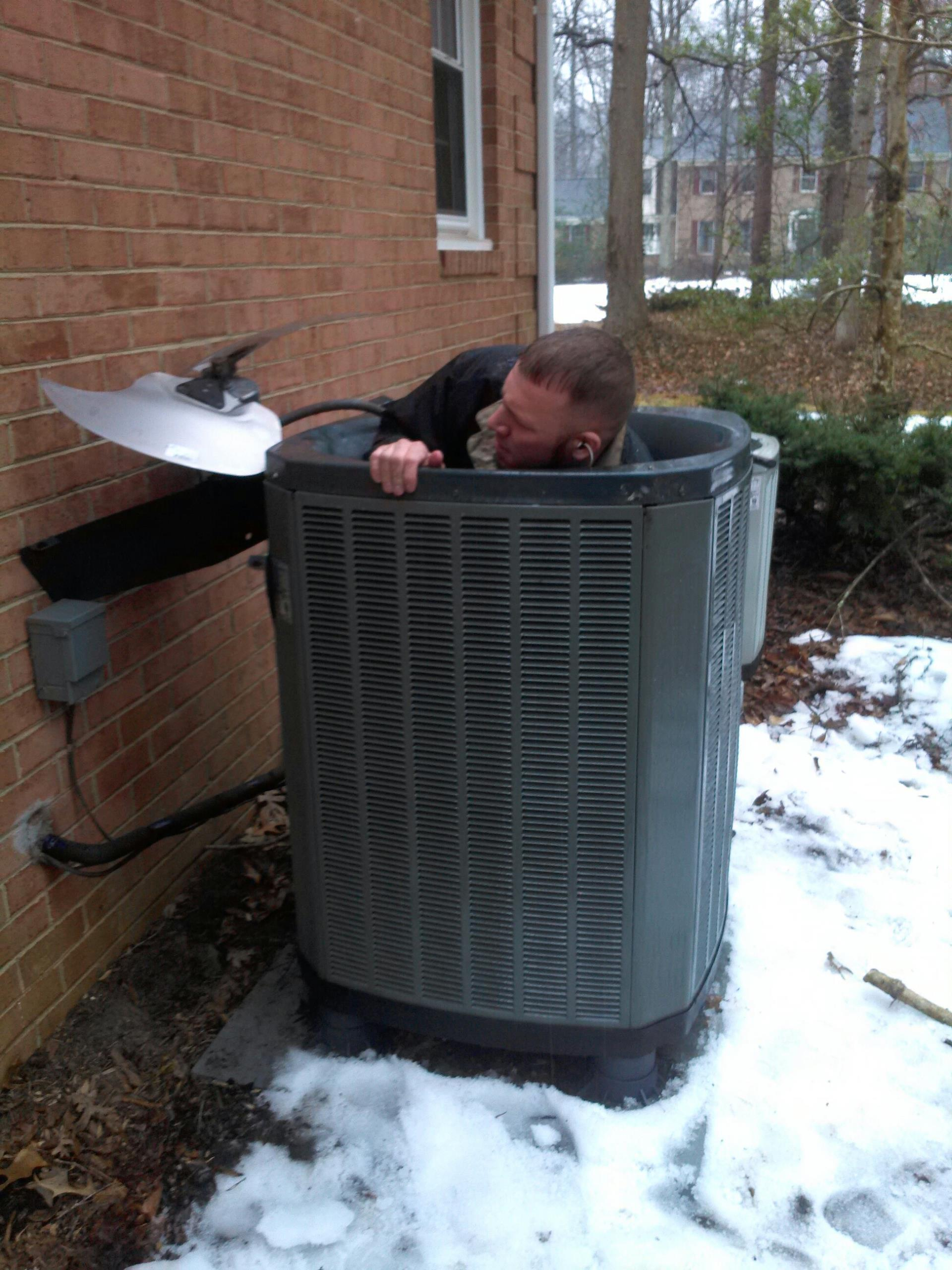 Gambrills, MD - Trane Heat pump AC air conditioning system installation repair service call in Gambrills Maryland 21054