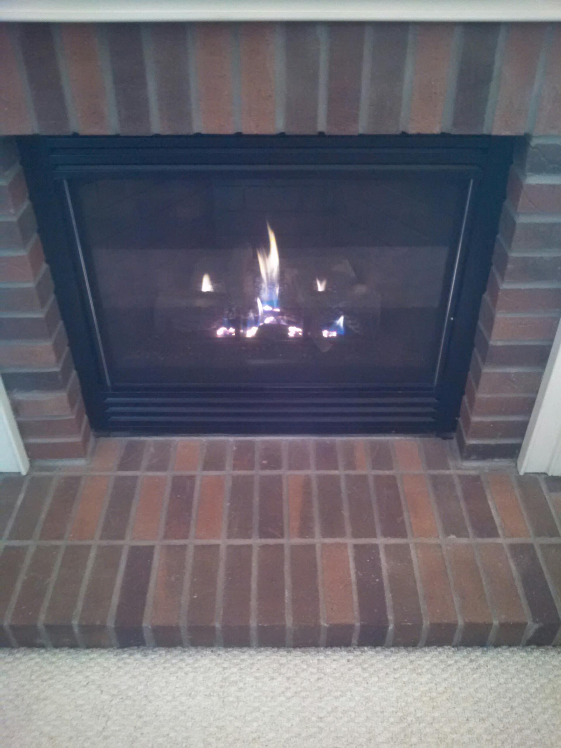 Gambrills, MD - Gas fireplace insert & gas logs installation repair service call in Gambrills MD.