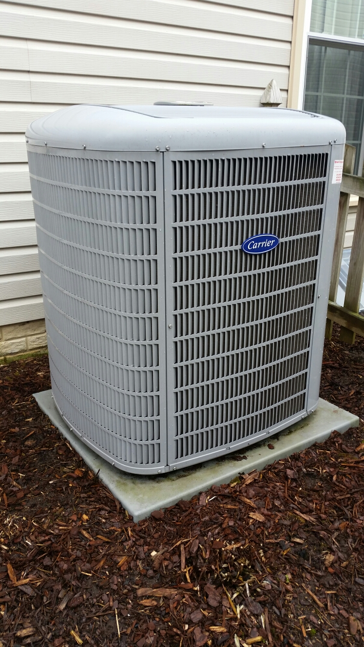 Crofton, MD - Carrier A/C cooling system installation repair service call in Crofton Maryland 21114