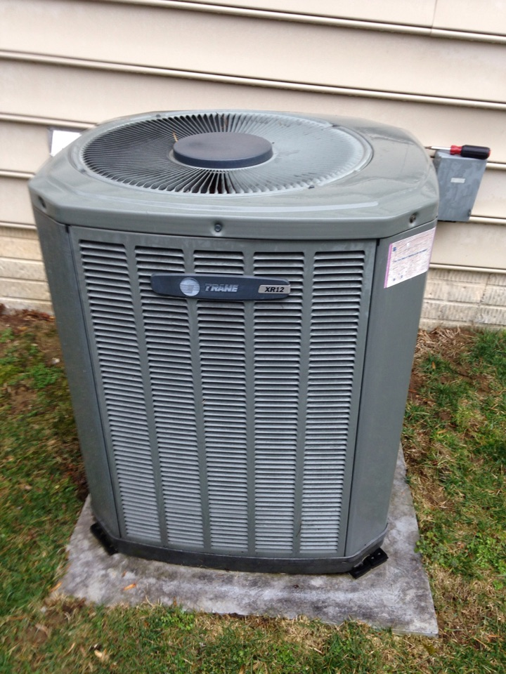 Crofton, MD - Trane ac air conditioning system installation repair service call in Crofton Maryland 21114