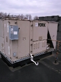 Gambrills, MD - York rooftop AC air conditioning & heating system installation repair service call in Gambrills Maryland 21054