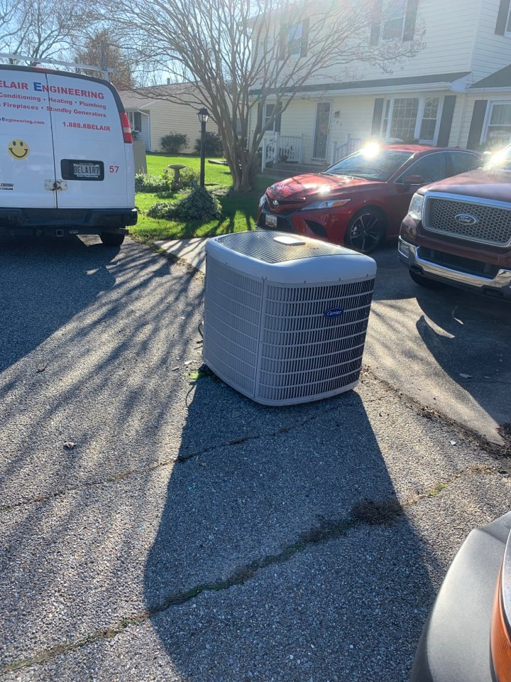 Edgewater, MD - Heat pump system installation