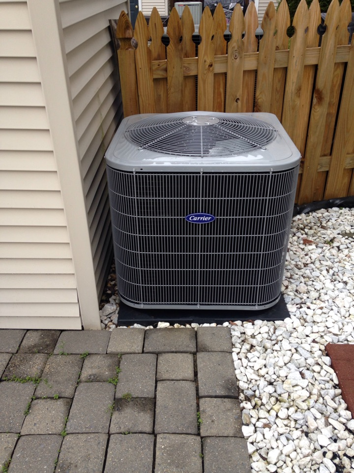 Gambrills, MD - Carrier AC air conditioner installation repair service call in Gambrills Maryland 21054