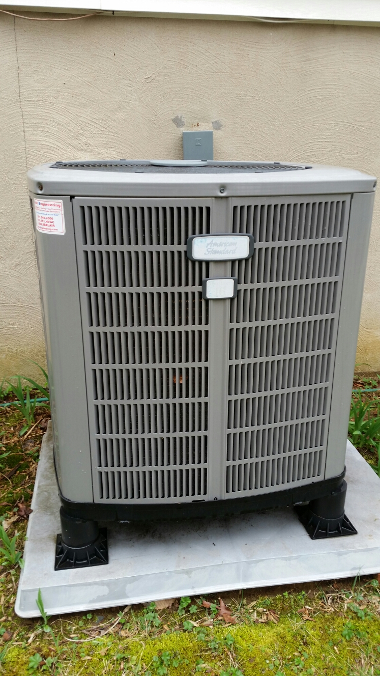 Gambrills, MD - American Standard heat pump ac air conditioning & heating system installation repair service call in Gambrills Maryland 21054