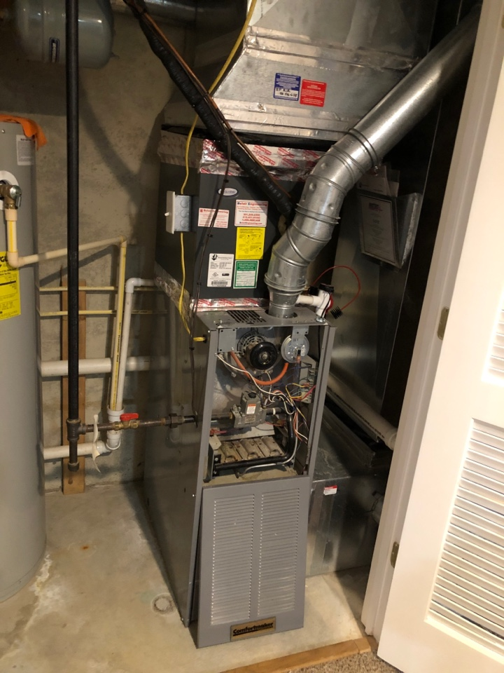 Odenton, MD - Replace 80% gas furnace gas hot water heater