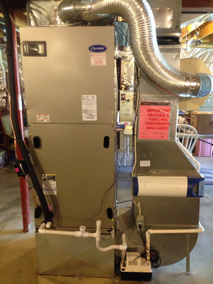 Gambrills, MD - Heatpump A/C air conditioning & heating system replacement installation in Gambrills Maryland 21054