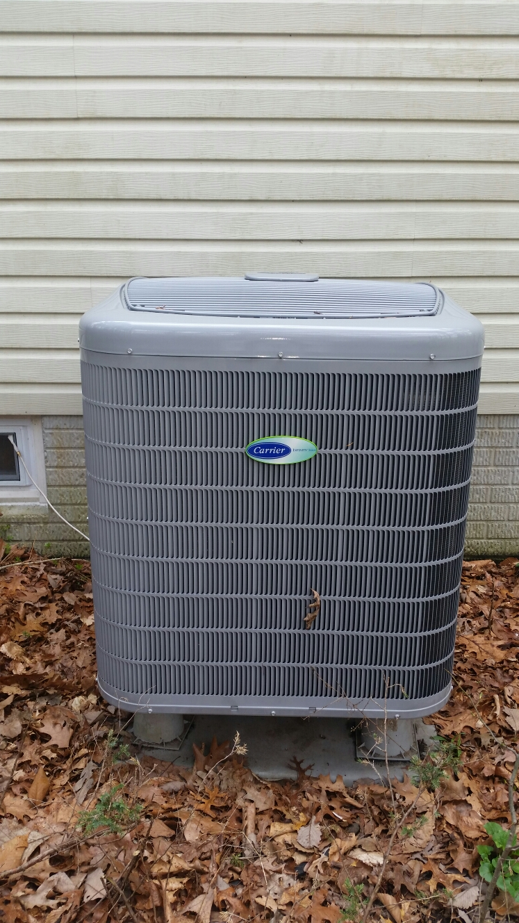 Gambrills, MD - Heat pump ac air conditioning & heating system installation repair service call in Gambrills Maryland 21054