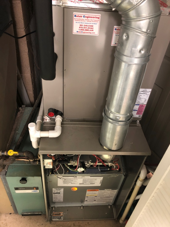Beltsville, MD - Carrier Gas Furnace repair services w/ Electronic Air Cleaner
