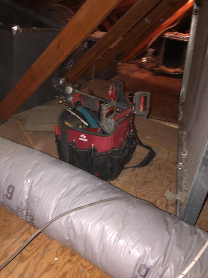 North Beach, MD - Replace heat pump system attic
