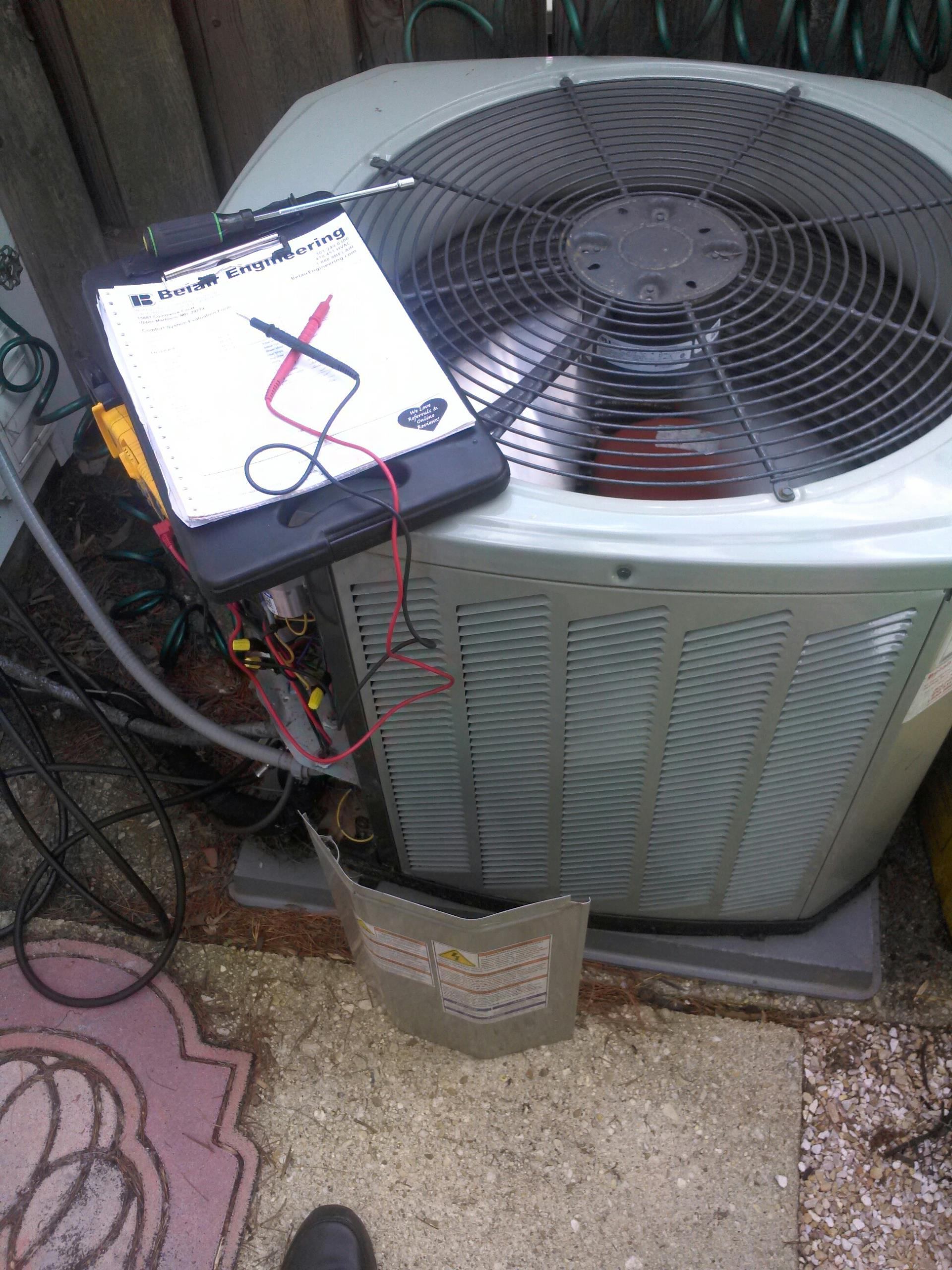 Crofton, MD - Trane AC air conditioning system repair service call in Crofton Maryland.