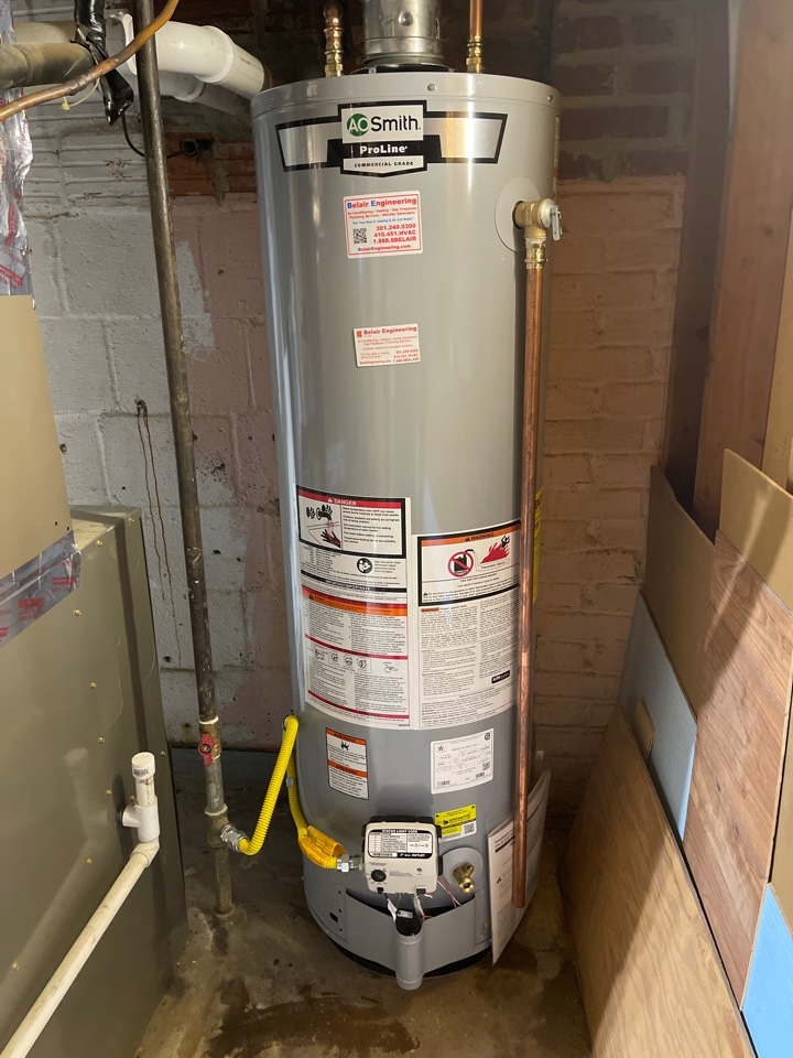 College Park, MD - Water heater install