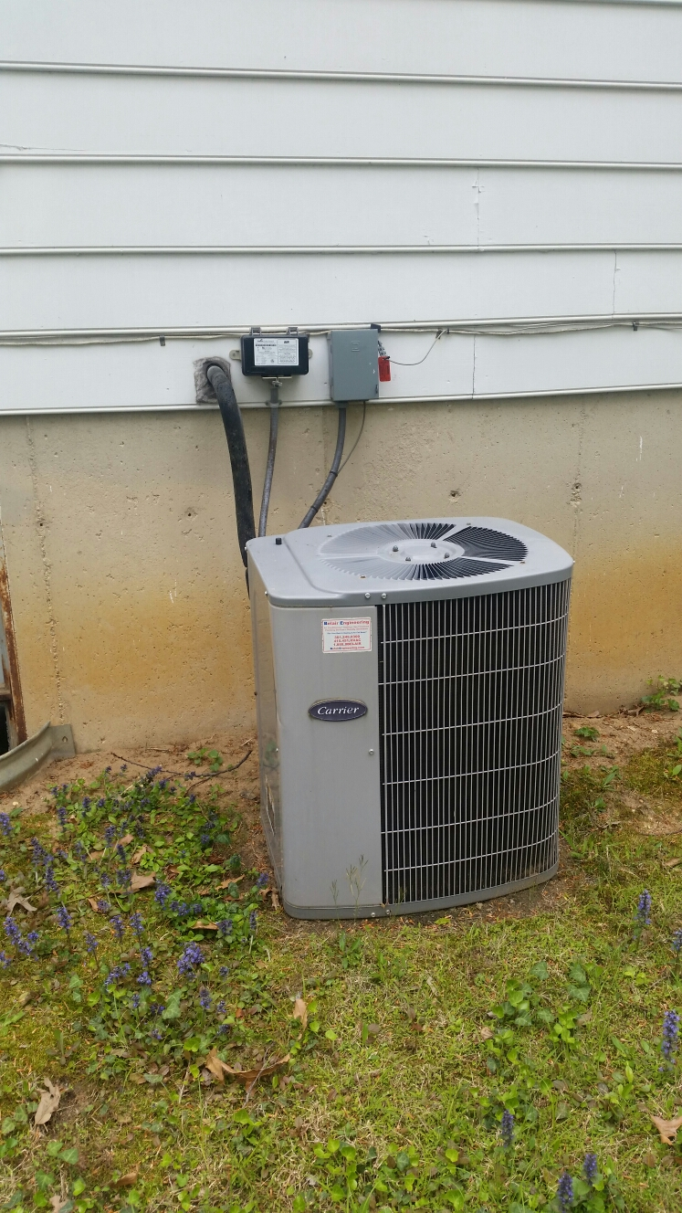 Crofton, MD - Crofton Maryland Carrier AC air conditioning & heating system installation repair service call.