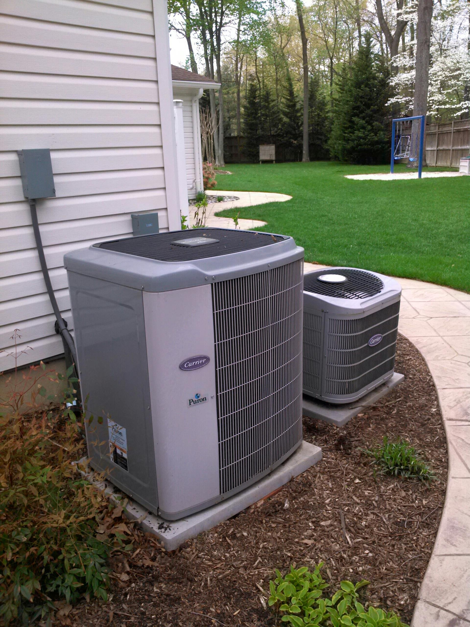 Crofton, MD - Crofton Maryland Carrier AC air conditioning system repair service call