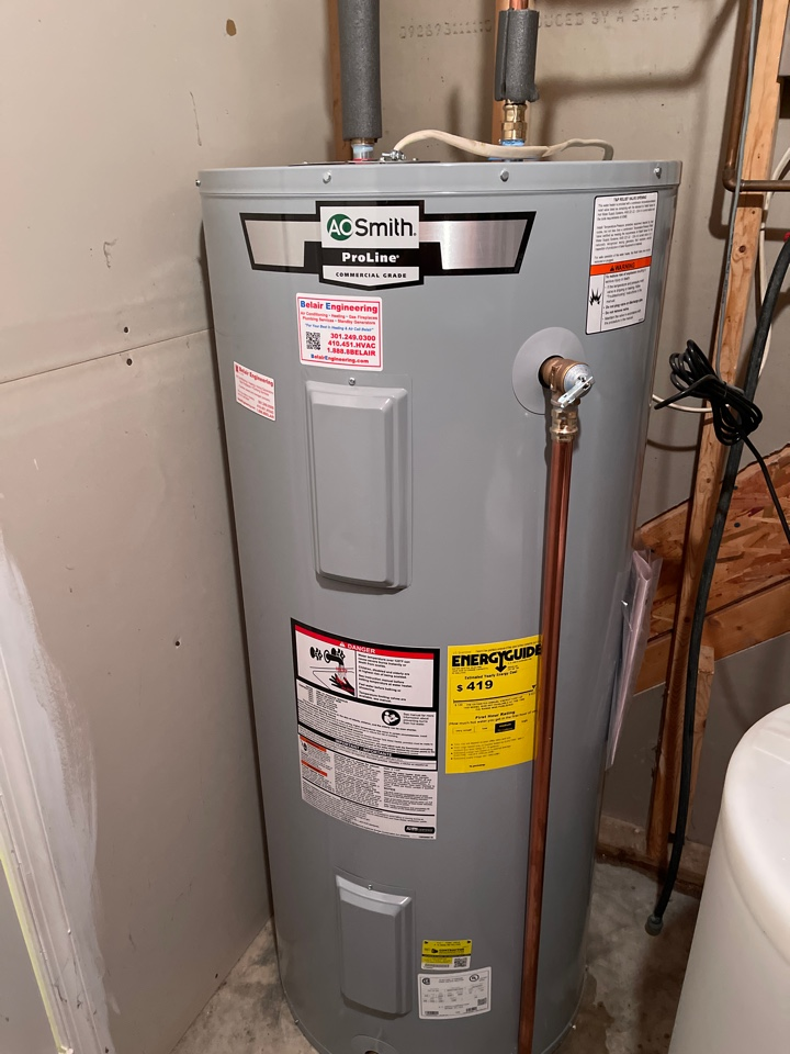 Owings, MD - Water heater install