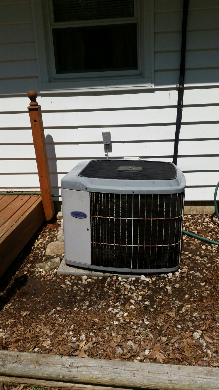 Gambrills, MD - Gambrills Maryland Carrier ac air conditioning & heating system installation repair service call.