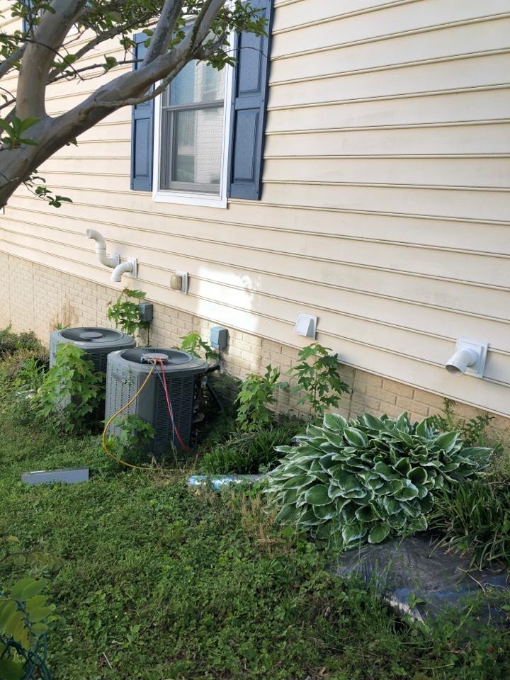 Glen Burnie, MD - Replace slab coil AC attic