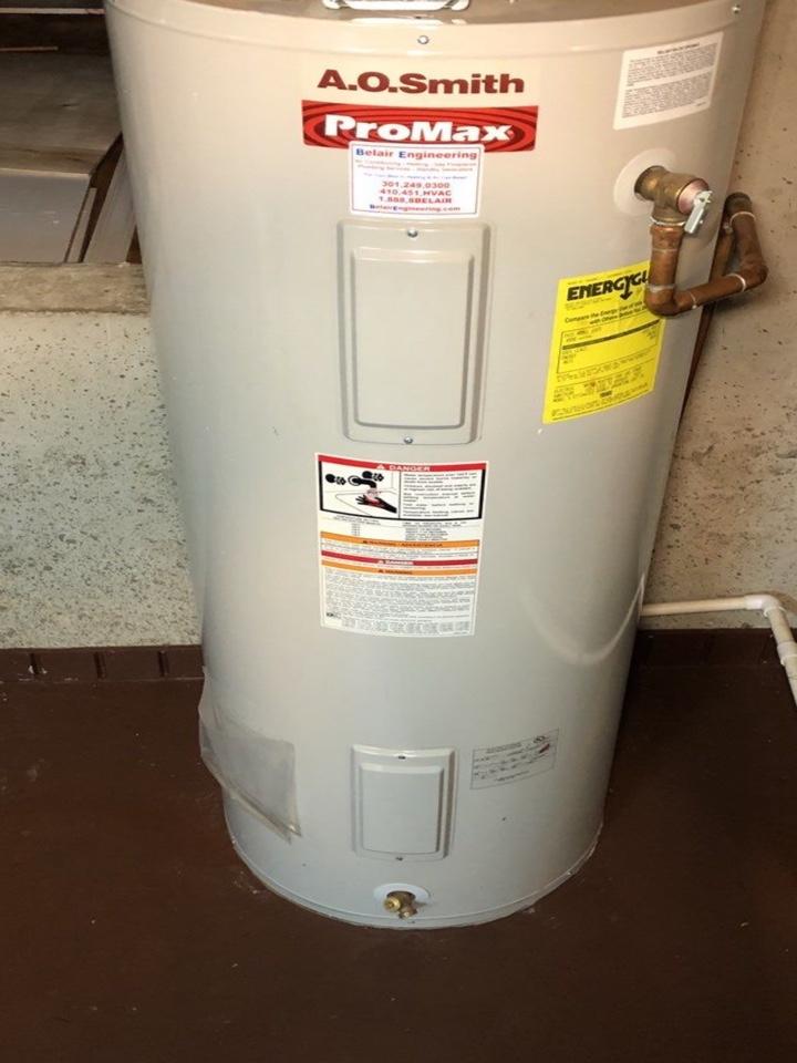 Millersville, MD - Water heater evaluation