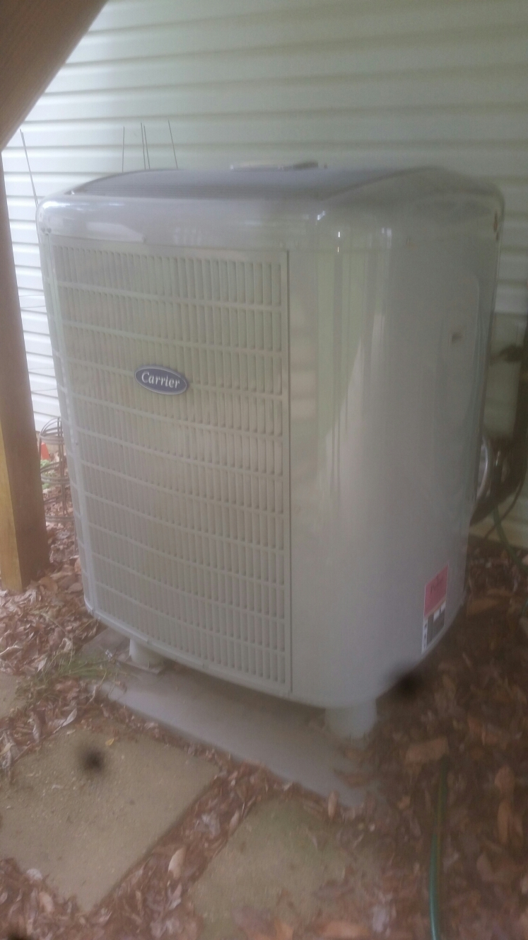Gambrills, MD - Carrier heat pump ac air conditioning & heating system installation service call in Gambrills Maryland 21054