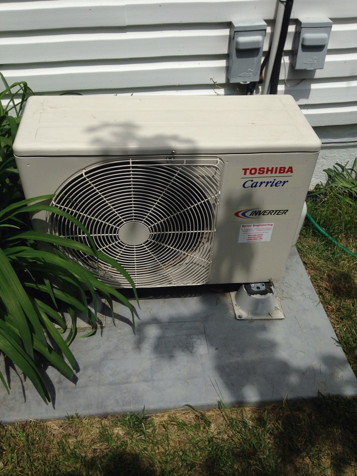 Friendship, MD - Heat pump AC & heating system installation repair service call in Friendship Maryland 20758