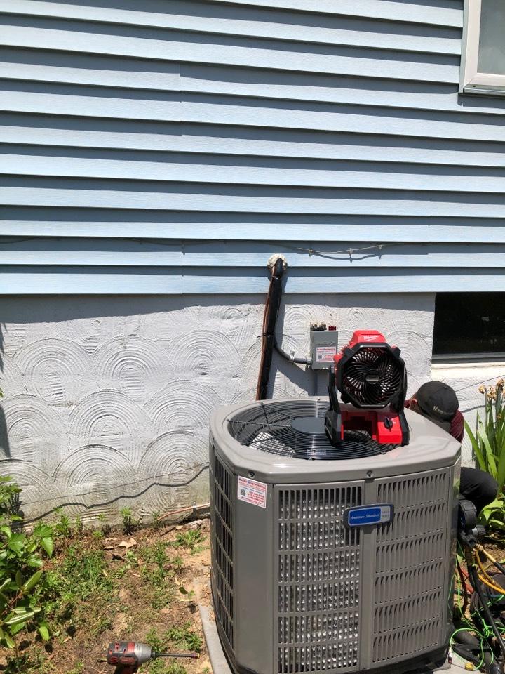 Pasadena, MD - American Standard heat pump furnace heating & AC system replacement installation Pasadena Maryland
