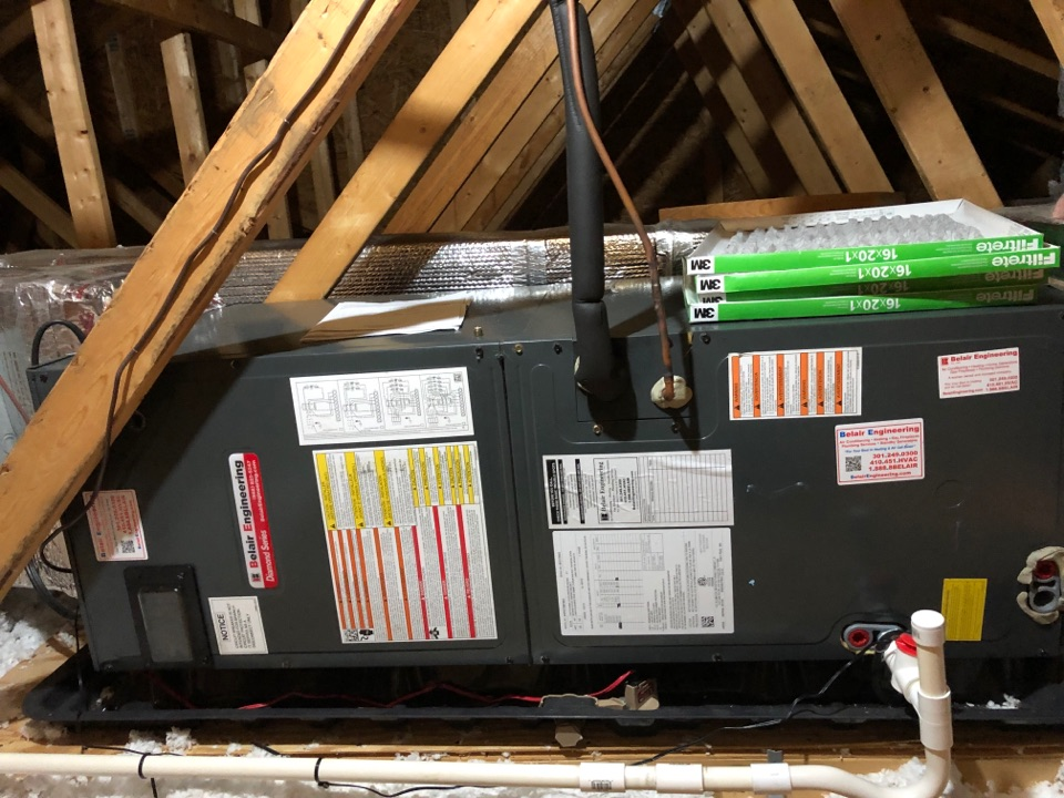 Crownsville, MD - Attic air handler repairs replacement of the EXV valve