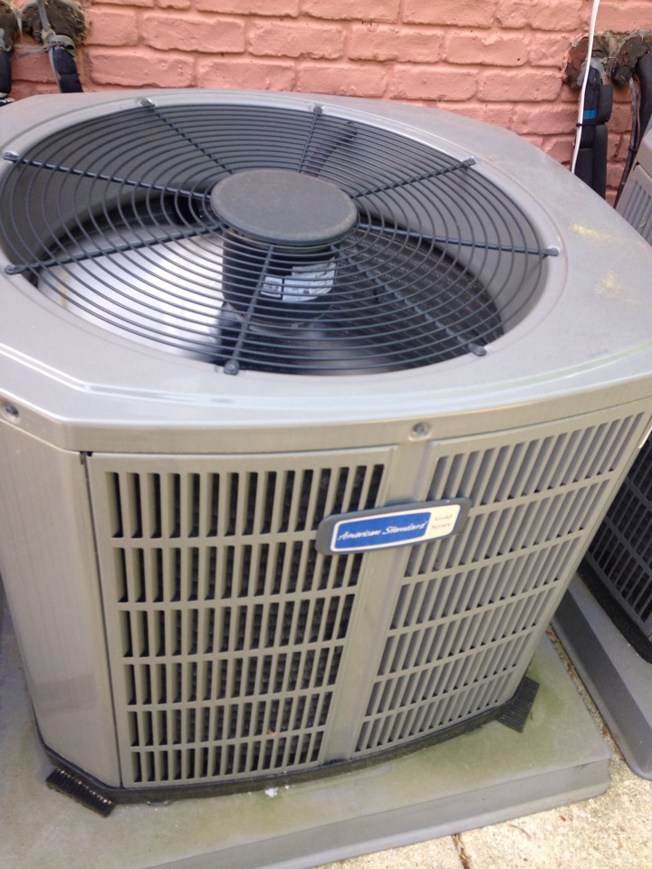 Gambrills, MD - American Standard AC air conditioning & heating system installation repair service call in Gambrills Maryland 21054