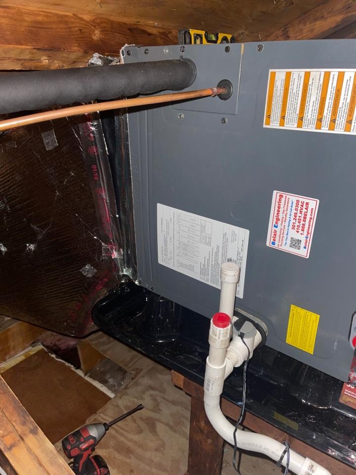 Brandywine, MD - A/c repair on attic systems diamond unit.