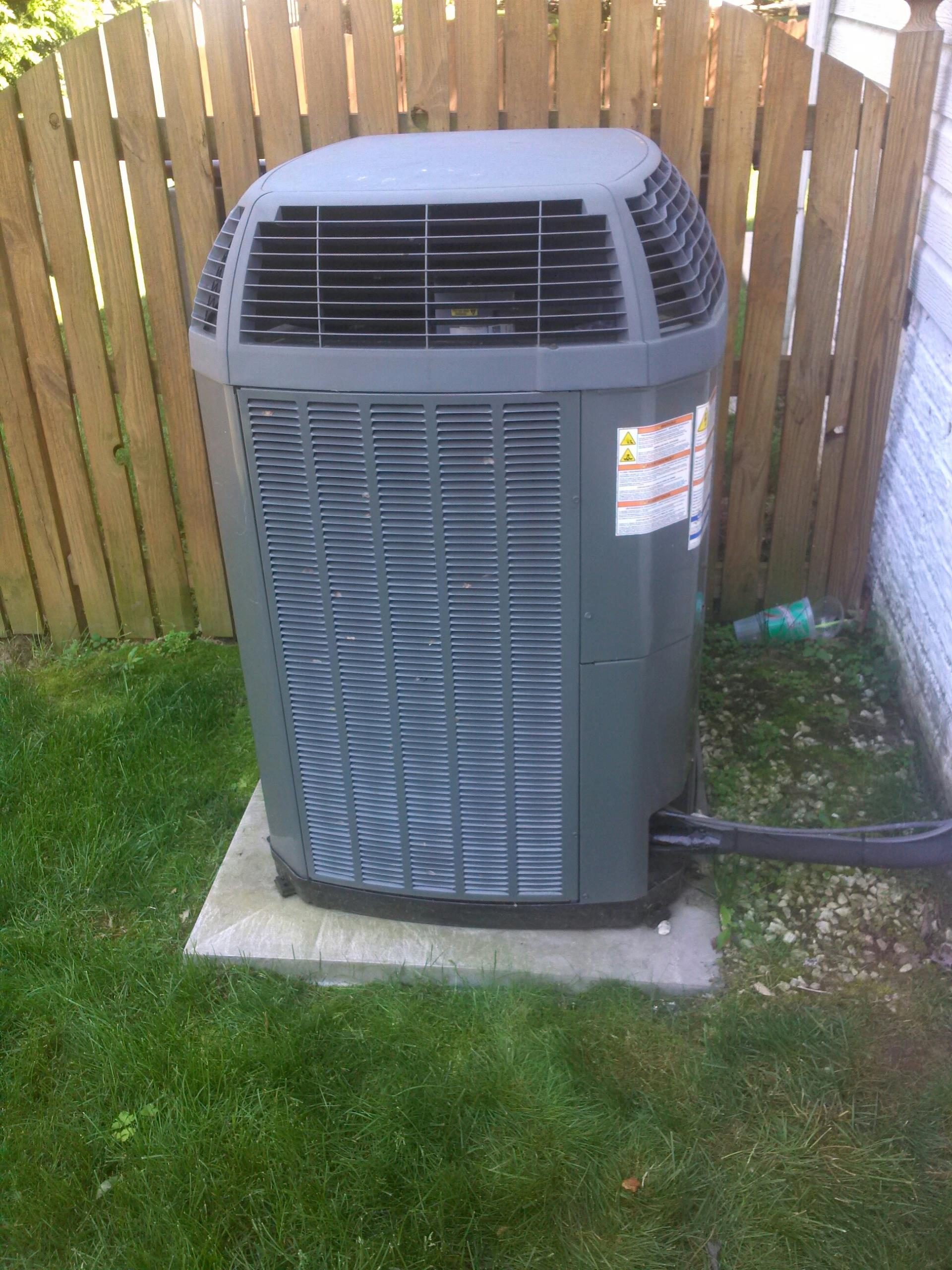 Crofton, MD - Trane AC air conditioning & heating system maintenance repair service call in Crofton Maryland 21114