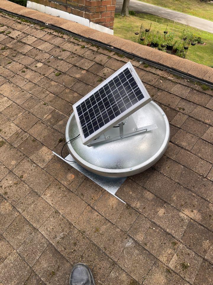 Lanham, MD - Solar attic fan installation
