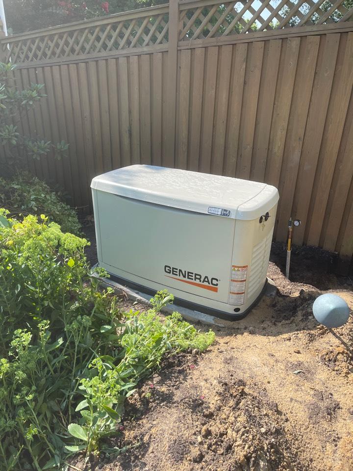 Millersville, MD - Generac standby generator installation in Millersville Maryland