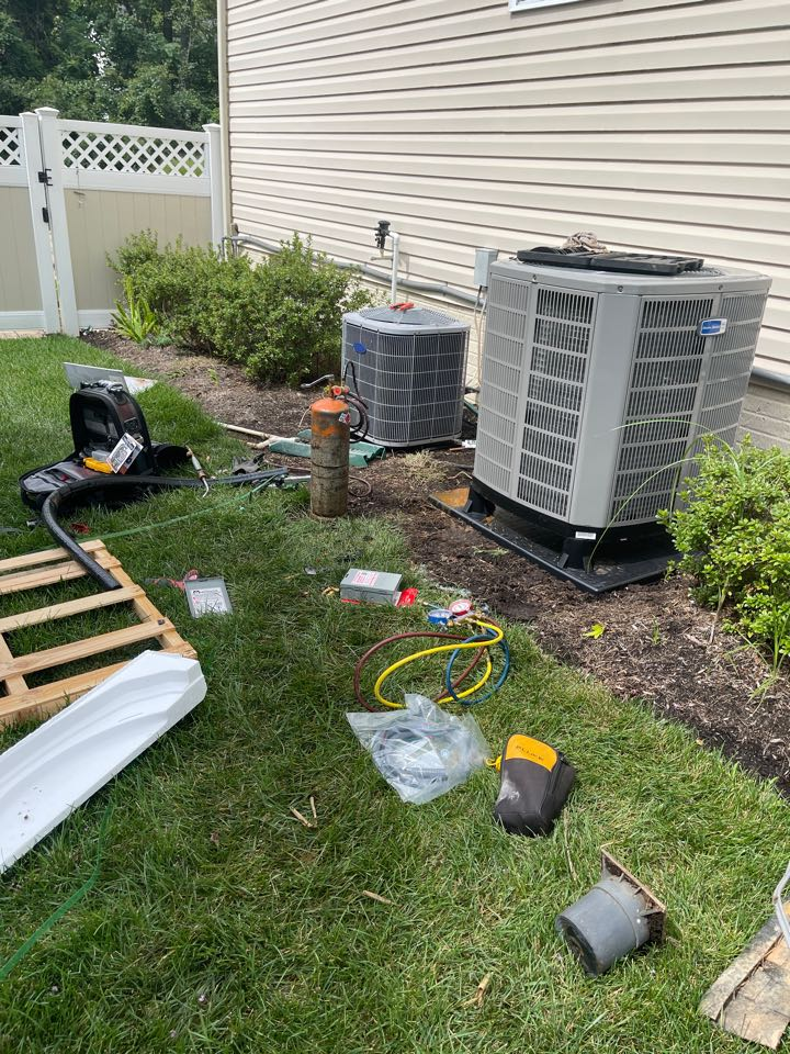 Riva, MD - American Standard heat pump & propane gas furnace heating & AC system replacement installation Riva Maryland