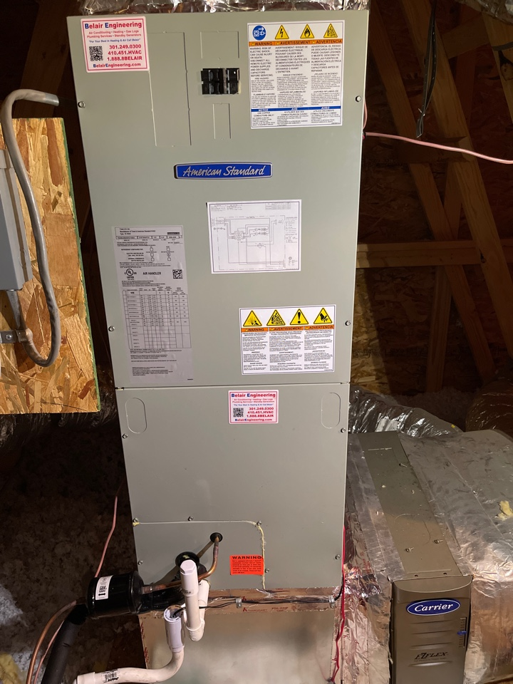 Riva, MD - American Standard AC heat pump & heating system replacement installation repair service call in Riva Maryland