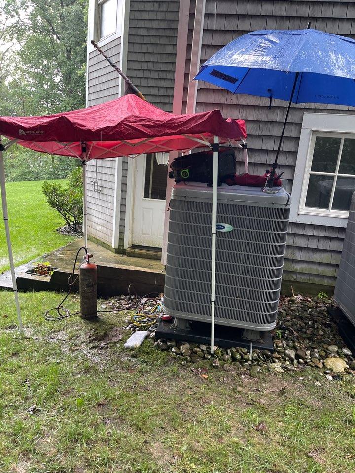 Davidsonville, MD - Carrier heat pump heating & AC system replacement installation Davidsonville Maryland