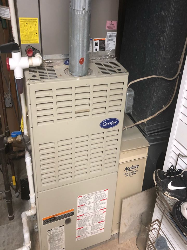 Laurel, MD - Carrier gas furnace heating & AC system replacement installation Laurel Maryland