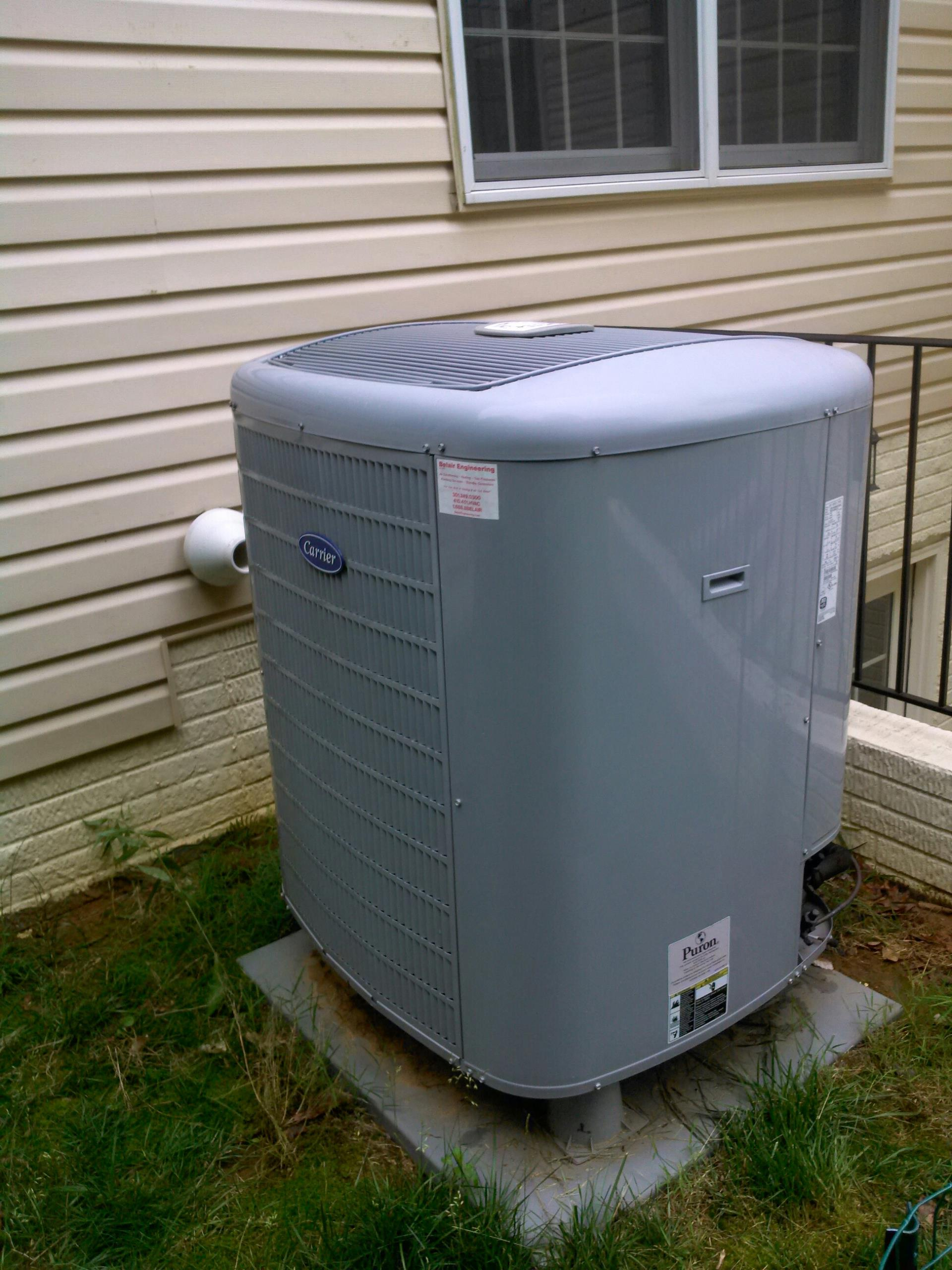 Crownsville, MD - Heat pump ac air conditioning & heating system repair service call in Crownsville Maryland 21032