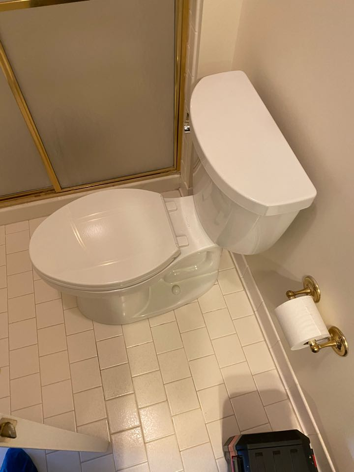 Glenn Dale, MD - Toilet and toilet supply valve replaced