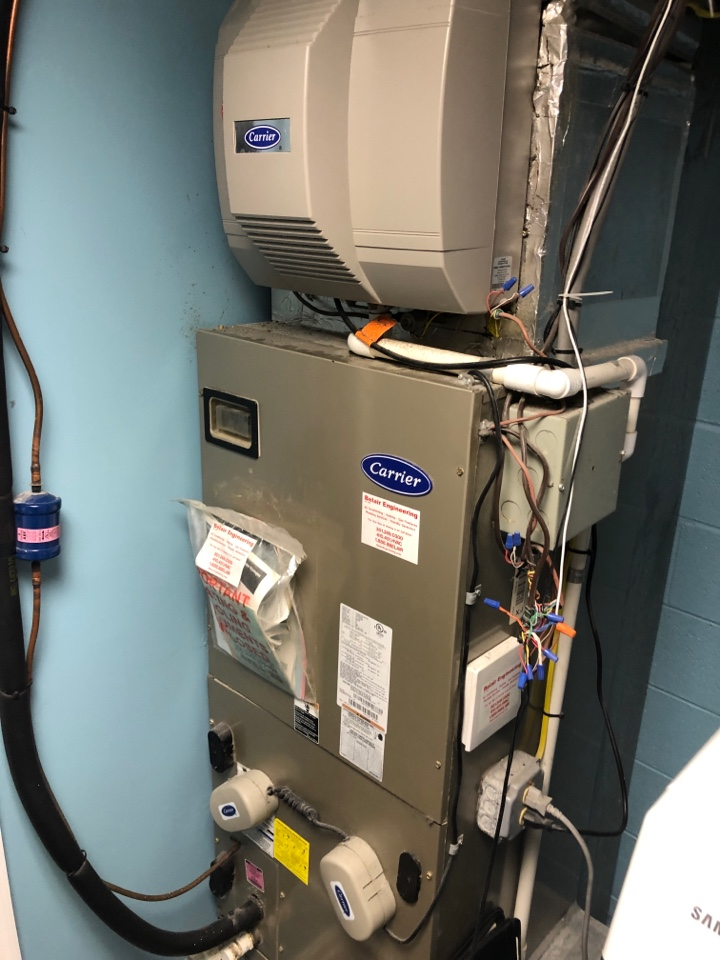 Huntingtown, MD - Carrier Heat Pump maintenance repair services with Flood protection, UV air sanitizer