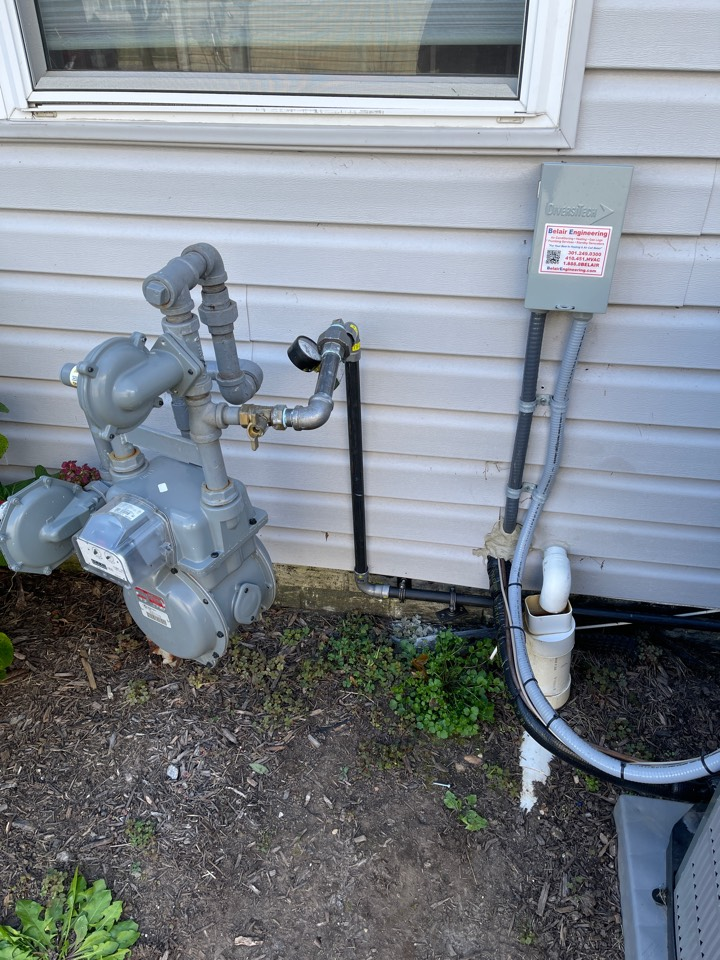 Bowie, MD - Gas line rough in for new Honeywell gas generator