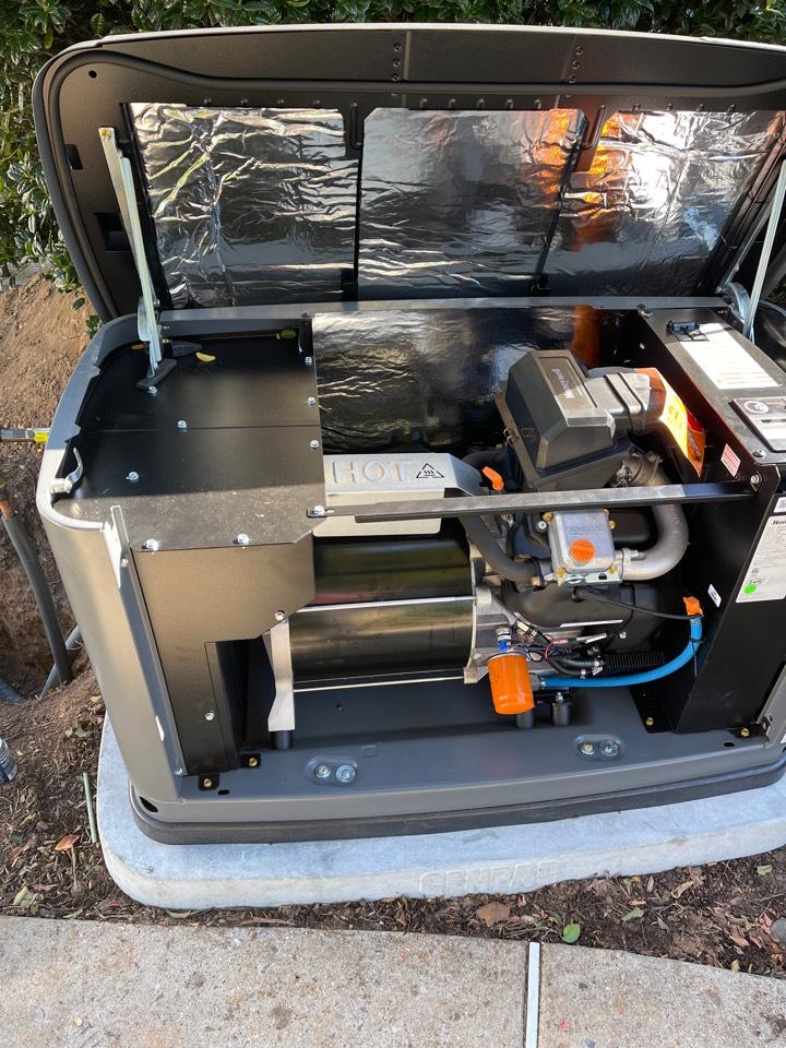 Bowie, MD - Honeywell standby generator installation