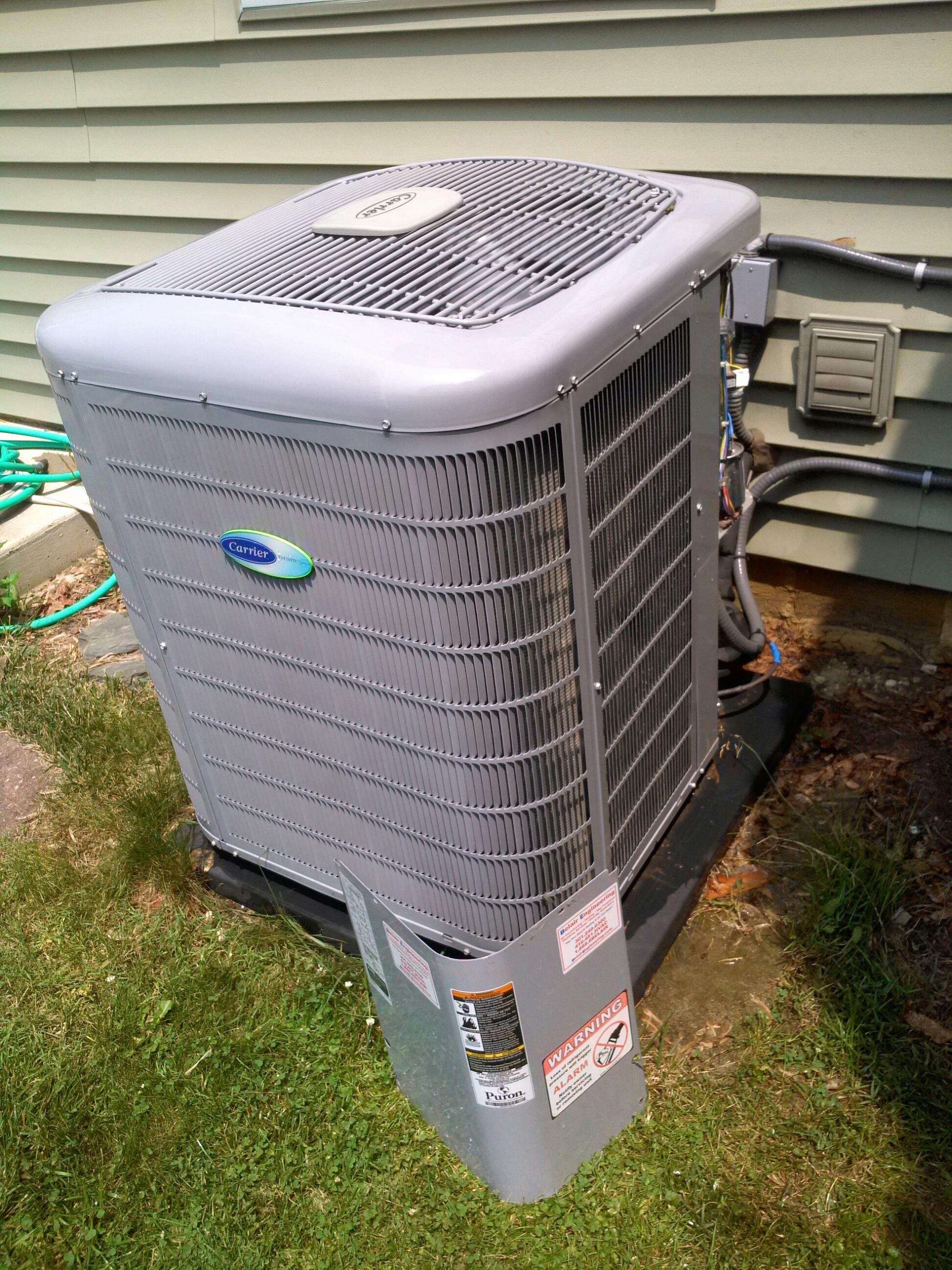 Gambrills, MD - Carrier ac air conditioner repair service call in Gambrills Maryland 21054