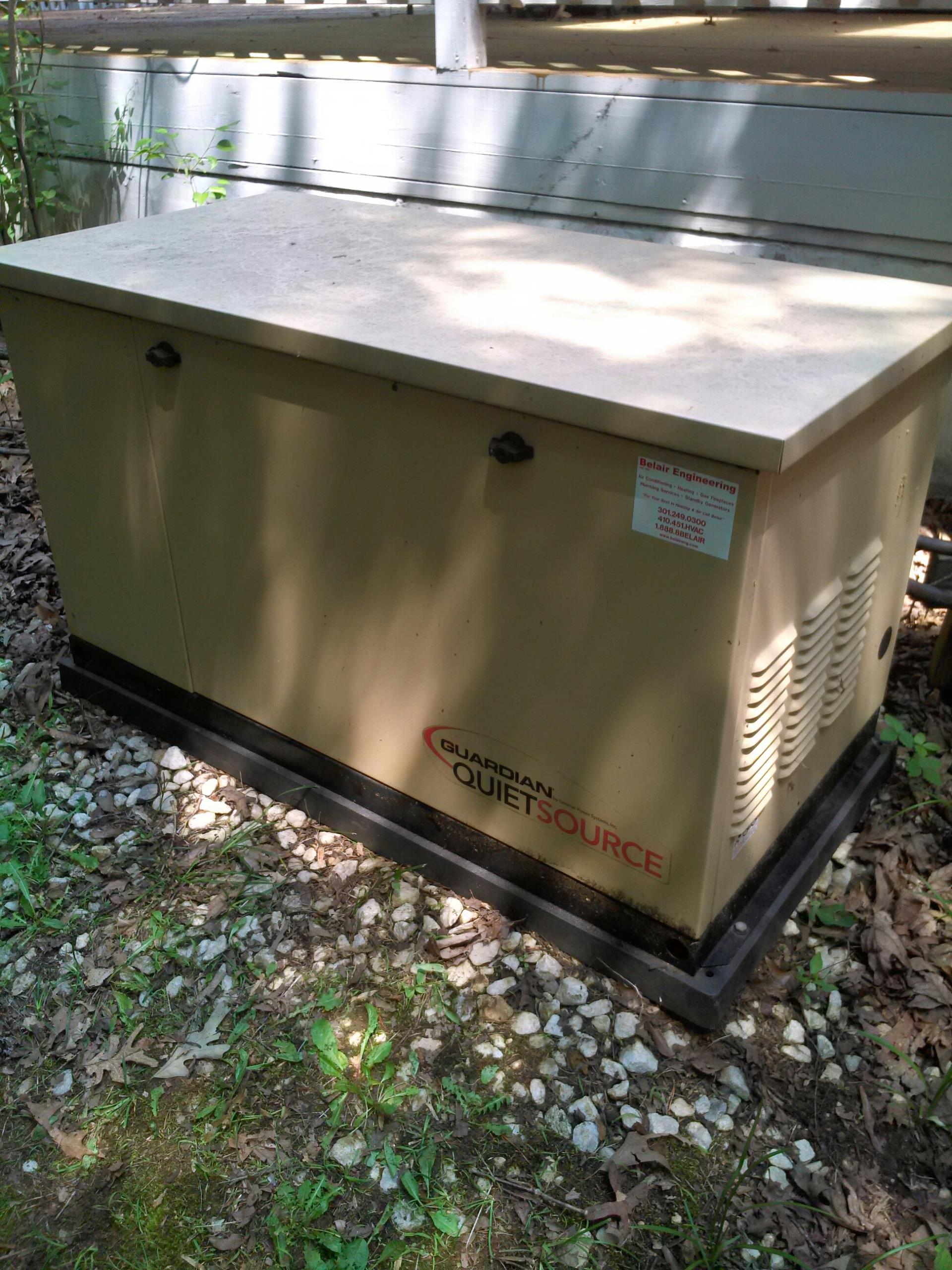 Gambrills, MD - Guardian standby backup generator installation repair service call in Gambrills Maryland 21054