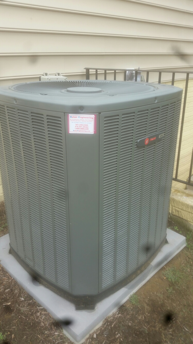 Gambrills, MD - Gambrills Maryland Trane heat pump AC air conditioning & heating system repair service call.