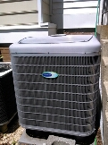 Crofton, MD - Carrier heat pump ac air conditioning & heating system repair service call Crofton MD