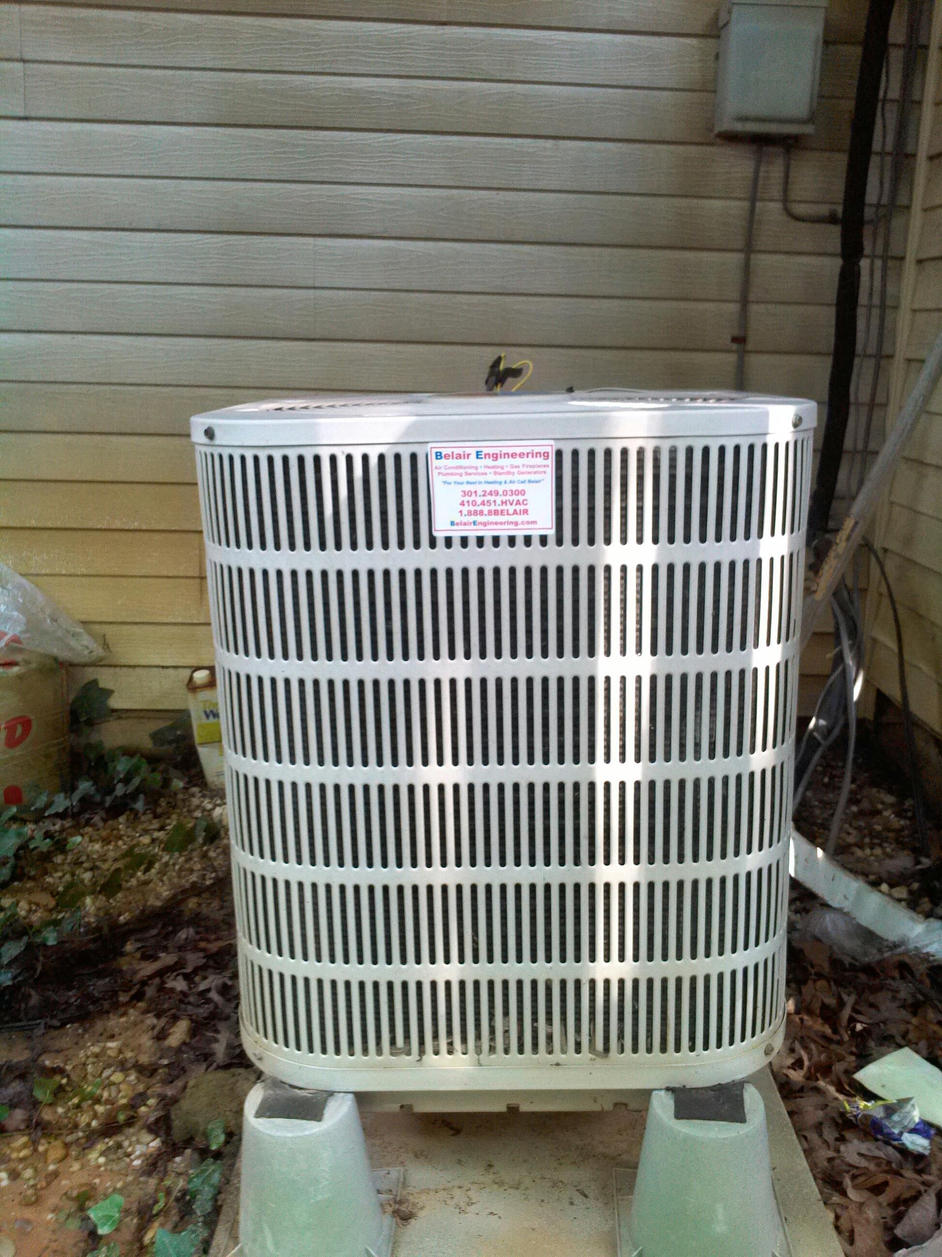 Goddard, MD - Goodman heat pump ac air conditioning & heating system replacement installation repair service call Goddard Maryland