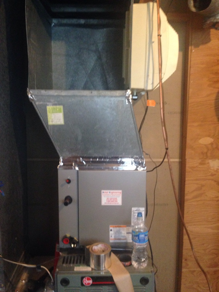 Crofton, MD - Ruud ac air conditioning & heating system replacement installation service call Crofton MD