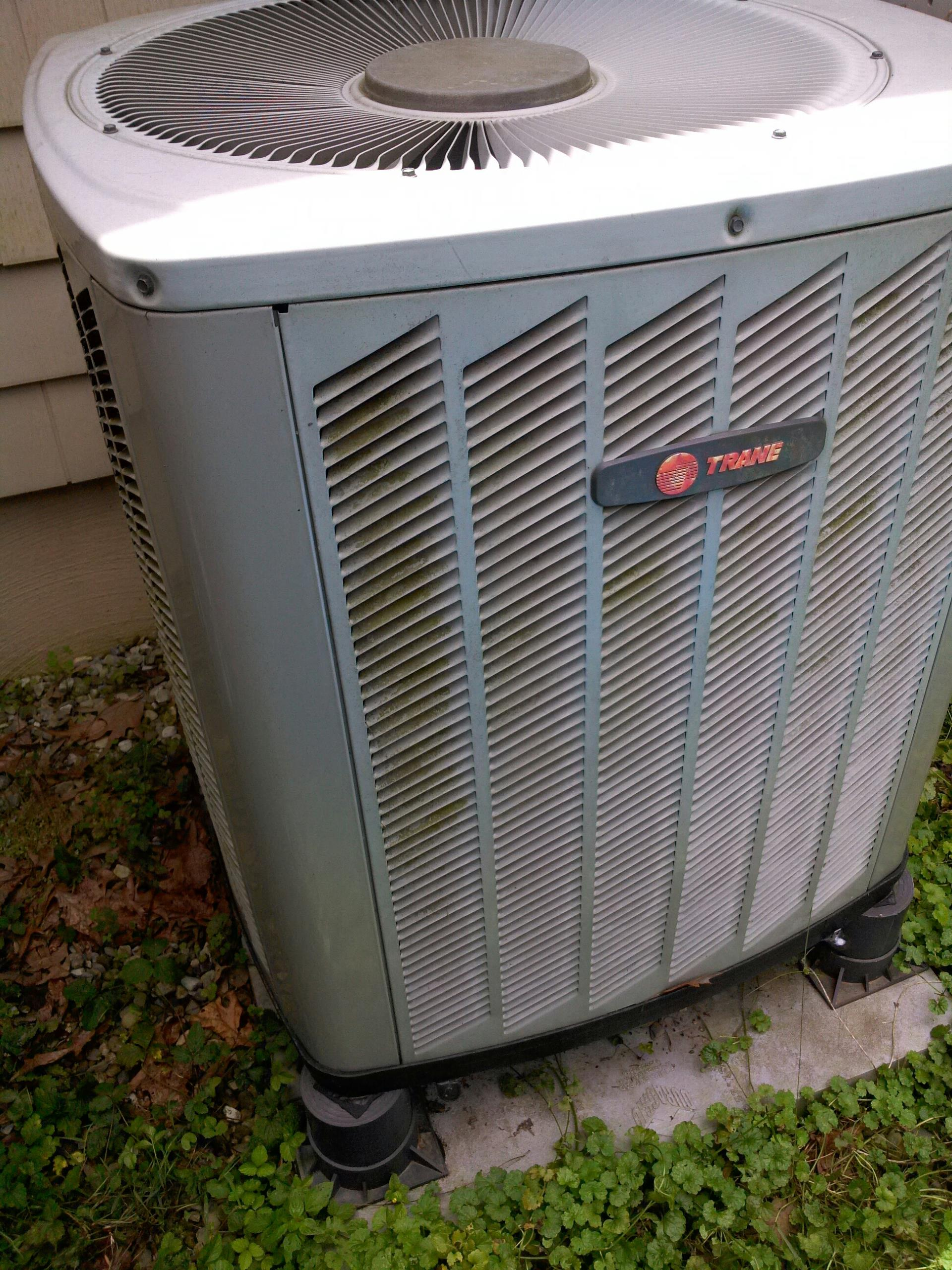Crownsville, MD - Trane heat pump ac air conditioning & heating system installation repair service call Crownsville MD