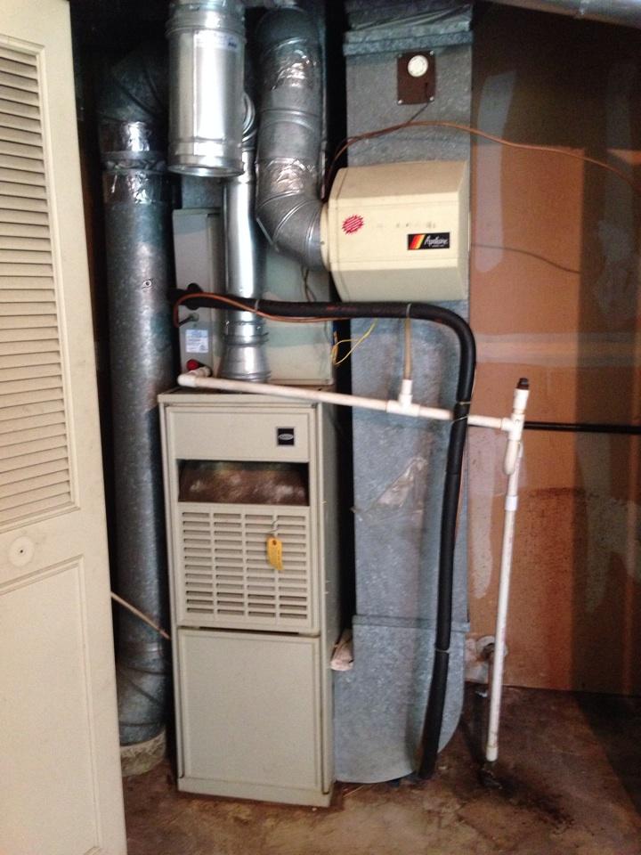 Crofton, MD - Furnace AC air cleaner installation