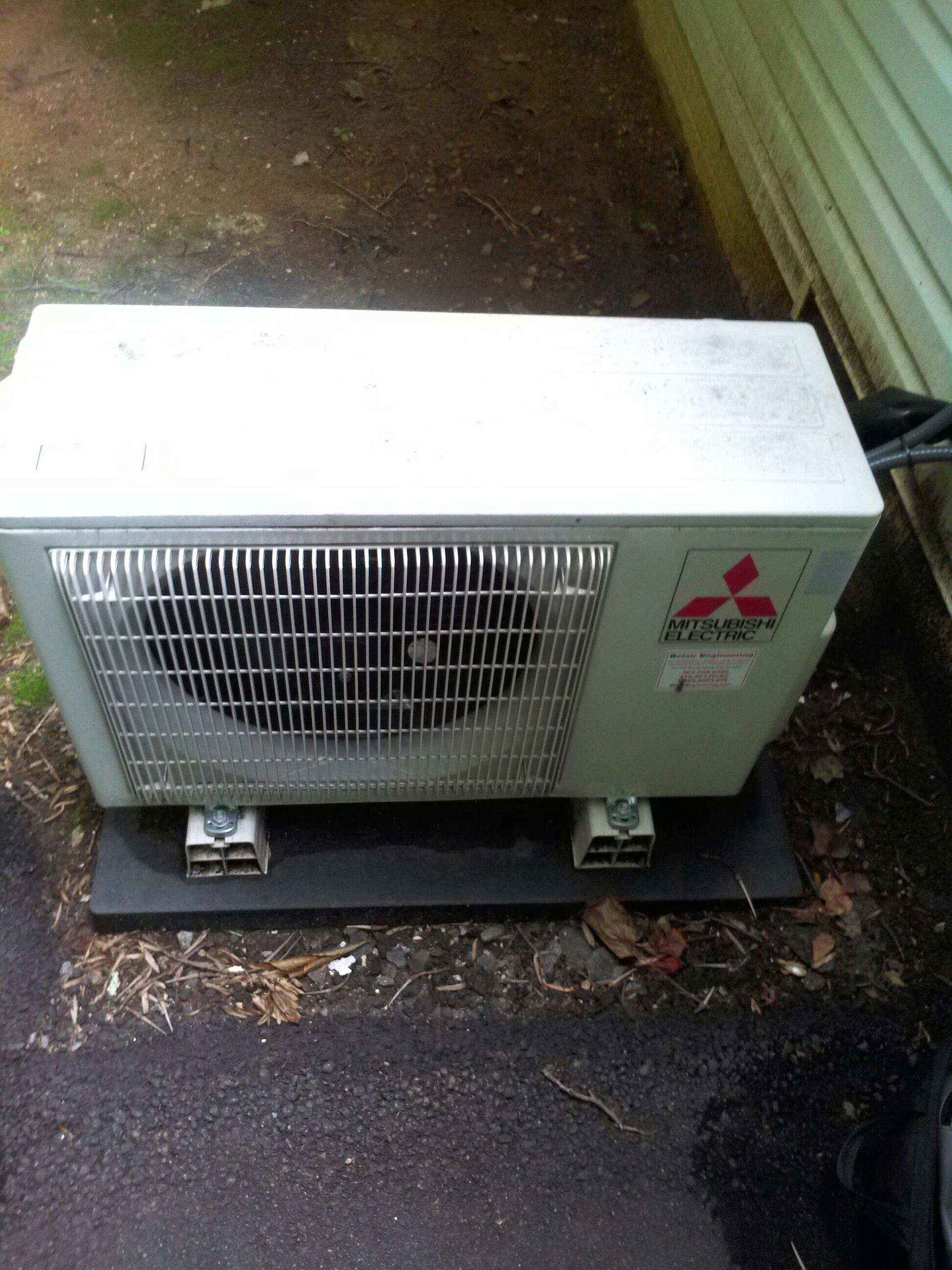 Gambrills, MD - Mitsubishi heat pump ac air conditioning & heating system installation repair service call Gambrills MD